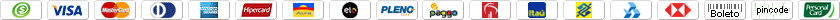 Formas de pagamento aceitas pelo Curso de E-commerce